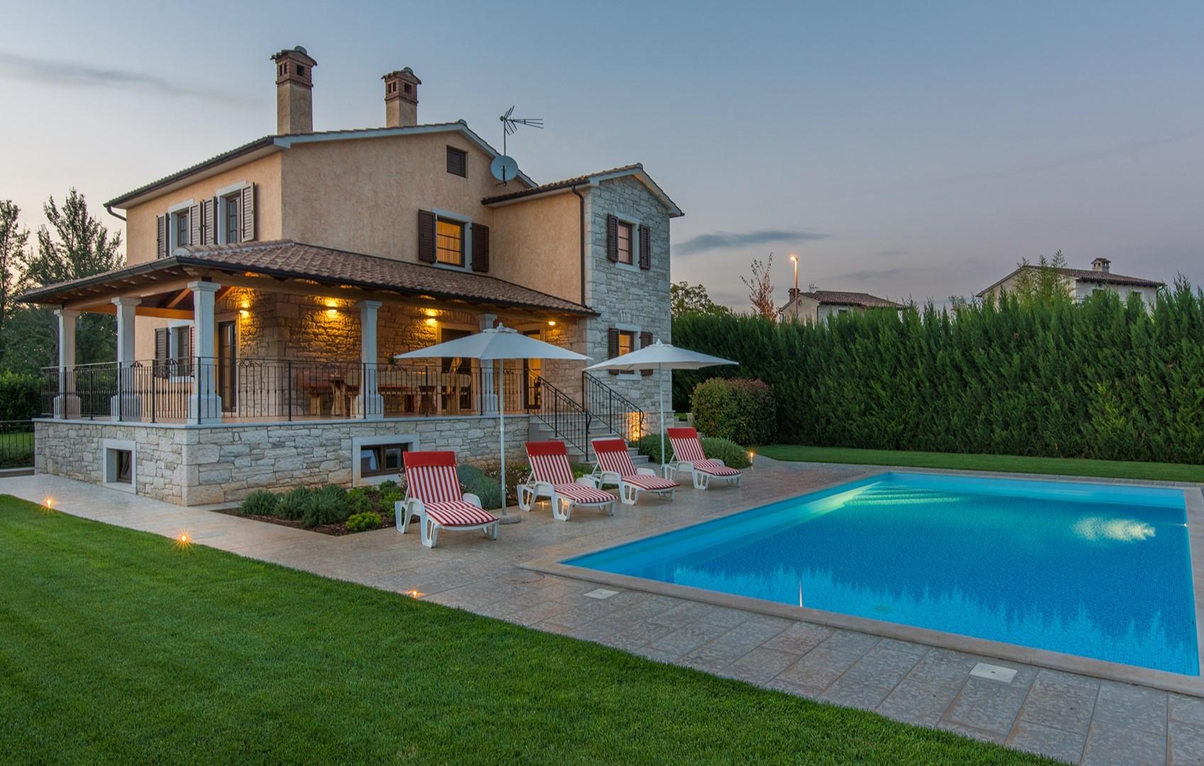 Ferienhaus Geräumige Villa Nikka mit schönem Garten und Pool (1412592), Kanfanar, , Istrien, Kroatien, Bild 32