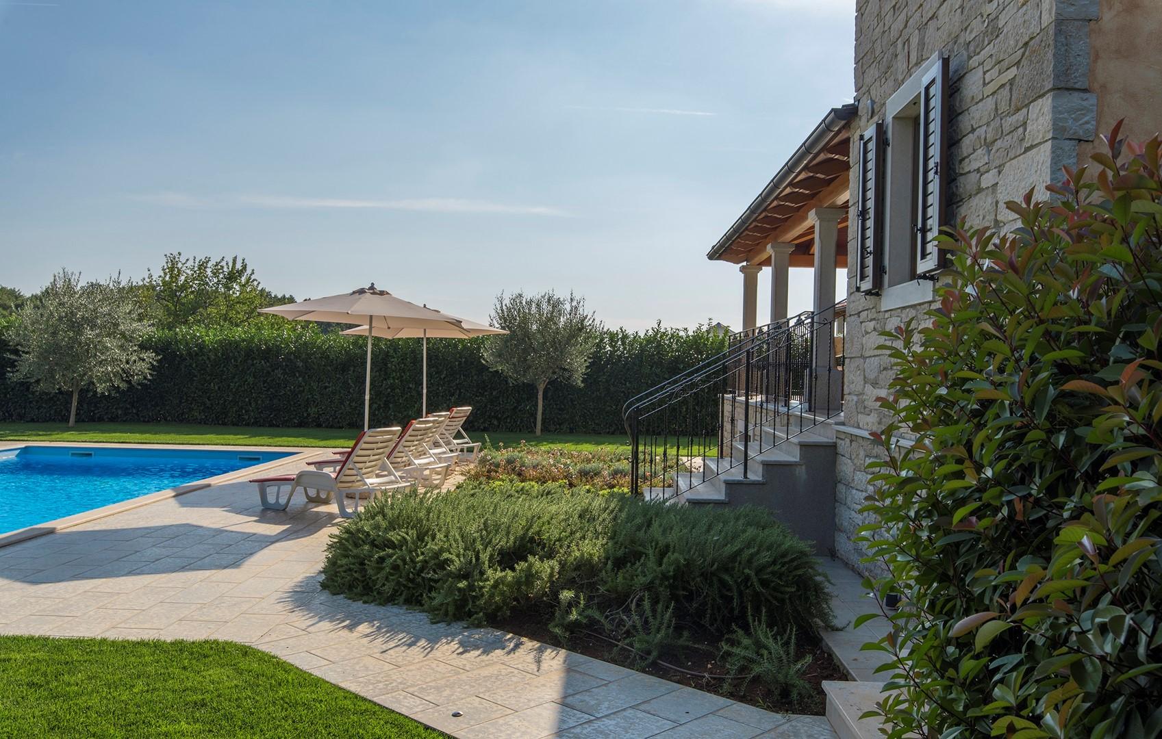 Ferienhaus Geräumige Villa Nikka mit schönem Garten und Pool (1412592), Kanfanar, , Istrien, Kroatien, Bild 6