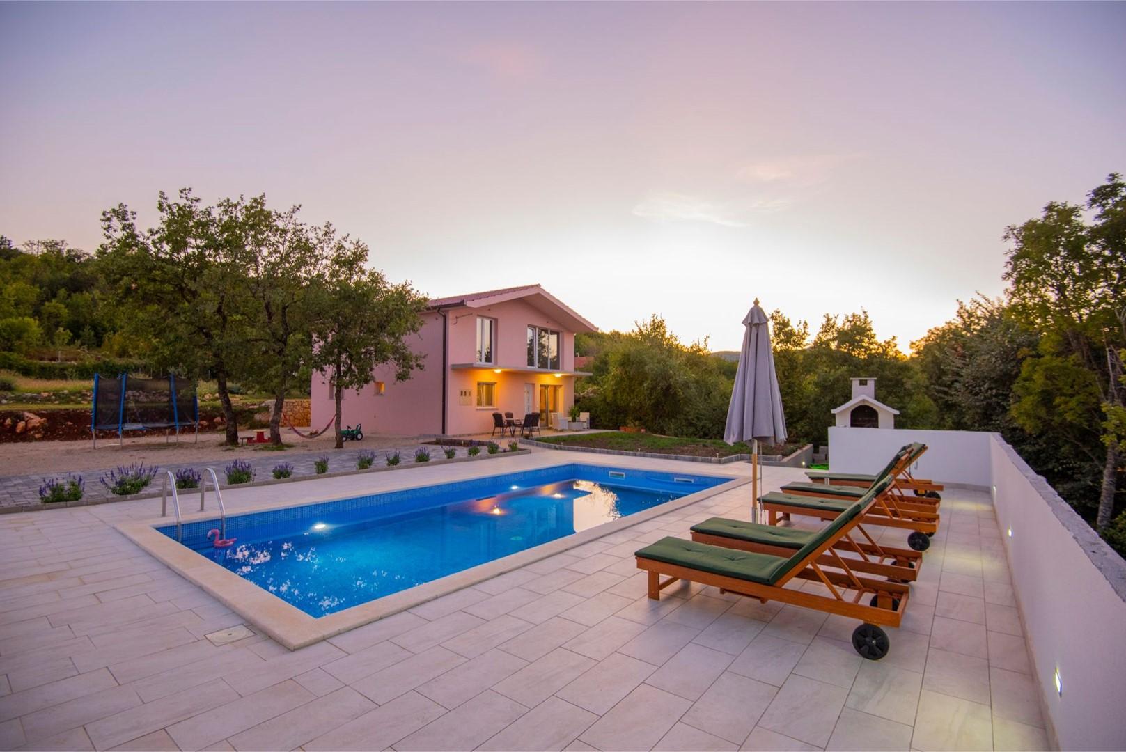 Ferienhaus ctim298-Modernes Ferienhaus mit Pool für 4+2 Personen (2639599), Kamenmost, , Dalmatien, Kroatien, Bild 1