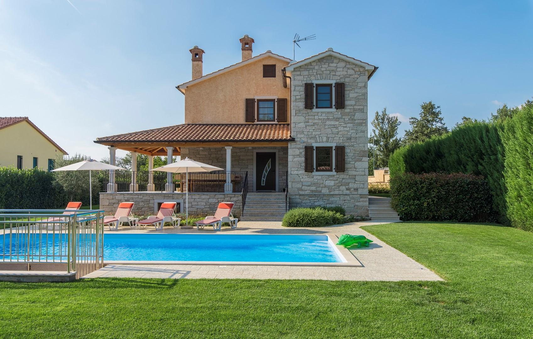 Ferienhaus Geräumige Villa Nikka mit schönem Garten und Pool (1412592), Kanfanar, , Istrien, Kroatien, Bild 30