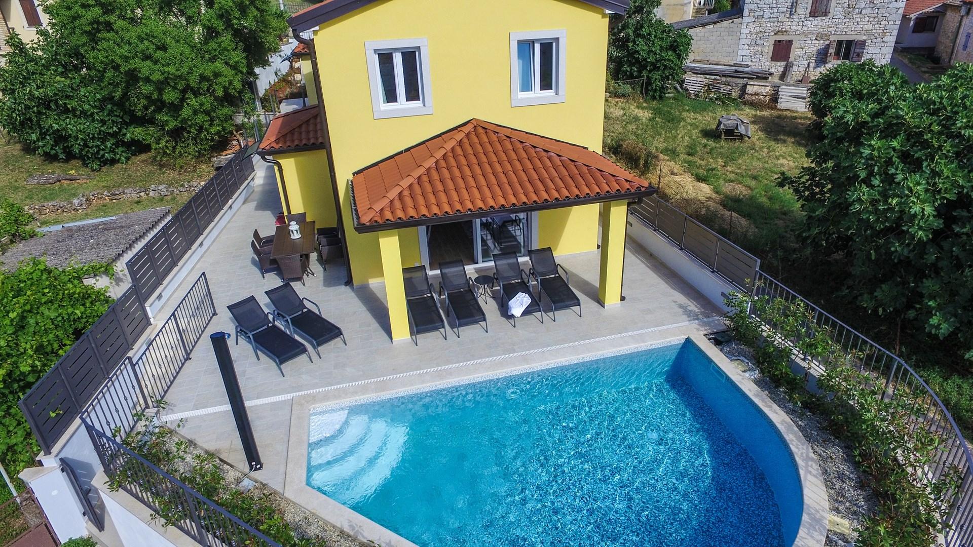 Ferienhaus Villa Cecilia mit privatem Pool in der Nähe von Aquacolors (2240240), Mugeba, , Istrien, Kroatien, Bild 2