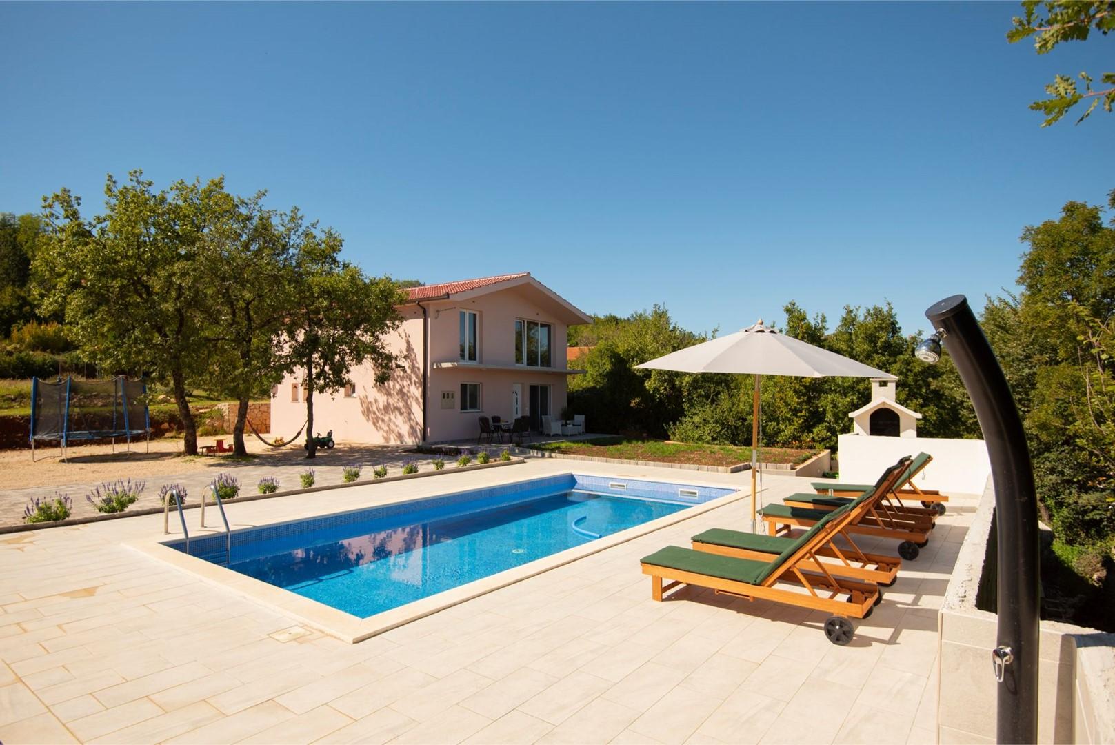 Ferienhaus ctim298-Modernes Ferienhaus mit Pool für 4+2 Personen (2639599), Kamenmost, , Dalmatien, Kroatien, Bild 14